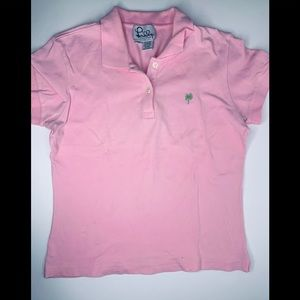 Pink Lilly Pulitzer polo.